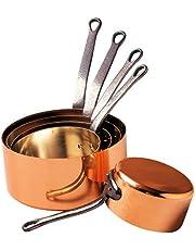 Baumalu 201020 - Cazo para cocina de gas, de diámetro 12 a 20 cm (set de 5)