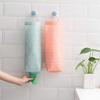 FSlife 2Pcs Plastic Bag Holder Waterproof Wall Mount Grocery Bag Dispenser Garbage Bag Organizer Plastic Bag Holder And Dispenser
