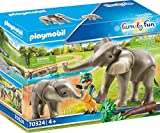 Playmobil 70324 - Guardiano dello zoo con elefanti.