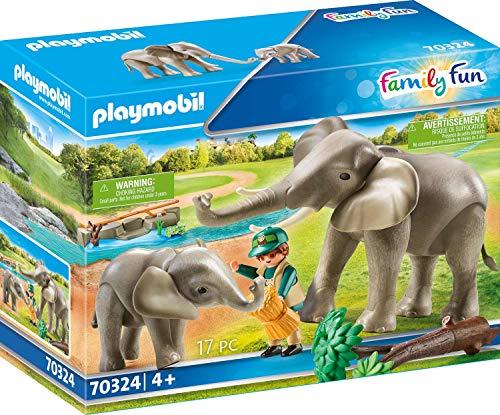 PLAYMOBIL  70324 Elefanten im Freigehege, ab 4 Jahren