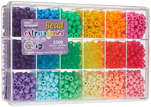 Beadery Bead Extravaganza Bead Box Kit, 19.75-Ounce, Pastel and Jelly