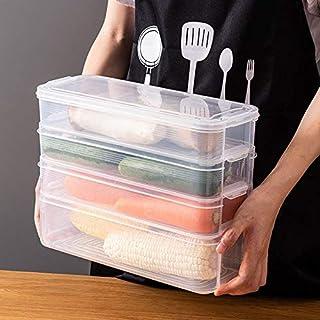 Boîte de Rangements pour Réfrigérateur. Bac Organisateur Frigo. Conteneurs De Stockage Réutilisables, Récipient empilable ...