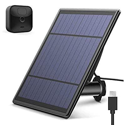 Upgraded Solar Panel for All-New Blink Outdoor Camera, Wall Mount Outdoor Weather Proof Solar Power Charging Panel for Blink XT/XT 2 Home Security Camera System
