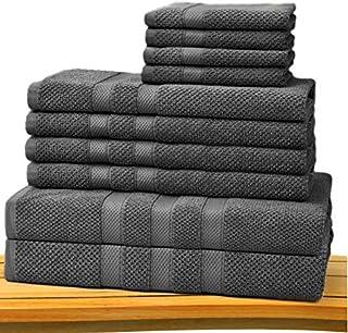 Cotton Craft - Juego de toallas de tela con punto de arroz,