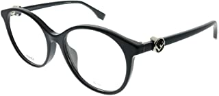 نظارات شمسية مستديرة بلاستيكية زرقاء اللون من Fendi F Is Fendi Asian Fit FF 0336/F PJP 51 مم