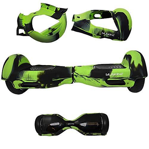 Siliskinz® Custodia in Gelatina per Silicone da 180 Gradi Hoverboard - per Smart Scooter da 6,5 'Swegway 2 Ruote (Verde/Nero)