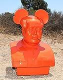 Frank Kozik The Bird is The Word Orange Mega Mao Fiberglass Bust
