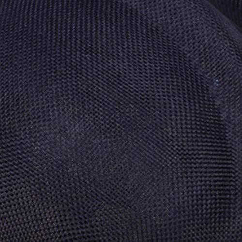 FHKGCD Racing Feather Sinamay Fascinator Hat Sombrero De Boda Imitación De Lino Sombrero De Cóctel De Iglesia Derby Accesorios para El Cabello, Azul Marino,