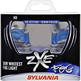 SYLVANIA - H8 (64212) SilverStar zXe Fog High Performance Halogen Fog Light Bulb - Bright White Light Output, HID Attitude, Xenon Fueled Technology (Contains 2 Bulbs)