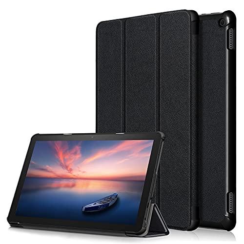 Fire HD 10/Fire HD 10 Plus 用の 2021年発売 第11世代 タブレット ケース 新型 カバー NEWモデル スタンド機能付き 保護ケース 三つ折 薄型 高級PU レザー 全面保護型 2021 NEW Fire HD 10 / HD 10 Plus 用の
