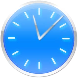 Blue Clock Widget
