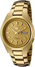 Seiko Men's SNK610 Seiko 5 Automatic Gold Dial Gold-Tone Stainless Steel Watch