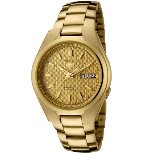 Seiko SNK610 - Reloj de Pulsera para Hombre, Color Dorado