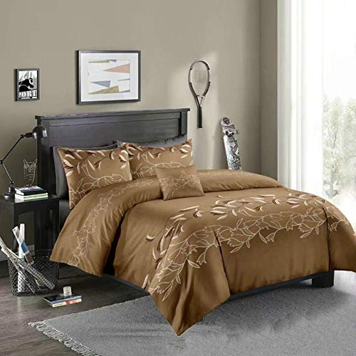 Duvet cover and pillowcase, bedding, quilt cover, single double room, king-size bed-Moran Coffee