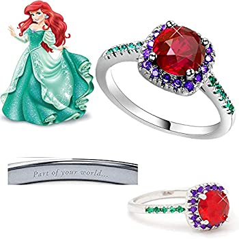 London Emily Jewelers Part of Your World Ariel Little Mermaid Disney Inspired Ring
