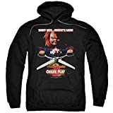 2Bhip Child's Play 2 Horror Comedy Thriller Movie Chuckys Back Adult Pull-Over Hoodie Black