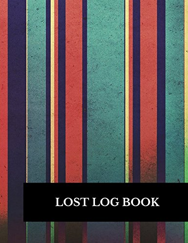 Lost Log Book: Large 8.5 By 11 Log 100 Record Pages