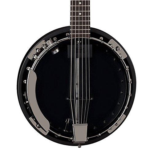 Dean Guitars Backwoods 6 Banjo w/Pickup Black Chrome - Banjo, color cromado y negro