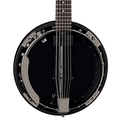 Dean Guitars Backwoods 6 Banjo w/Pickup Black Chrome - Banjo, color cromado y negro
