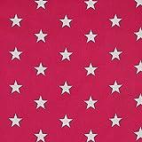 babrause® Baumwollstoff Sterne Pink Webware Meterware