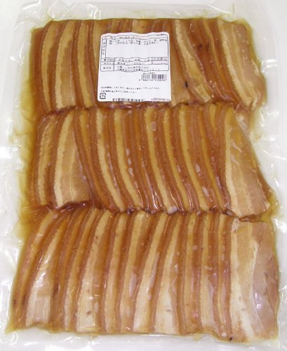 【業務用】 味付三枚肉 1kg(約30g×30枚入り)×3P オキハム 皮付きの豚三枚肉を沖縄風に味付け 沖縄そばの具やお弁当、オードブルにおすすめ 厚めのスライスでボリューム満点