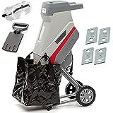 IKRA trituradora de cuchillas eléctrica IMH 2500, incl. 4x cuchillas reversibles, saco coletor y gafas de seguridad