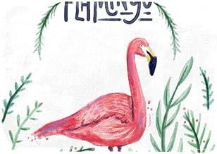 EGGDIOQ Doormats Watercolor Flamingo Custom Print Bathroom Mat Waterproof Fabric Kitchen Entrance Rug, 23.6 x 15.7in