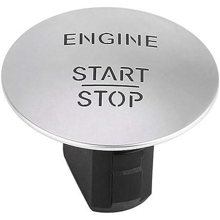 Keyless Go Zündknopf Auto Motor Startknopf Motor Zündknopf Schalter Motorzündschalters Auto Start Stop Engine Knopf Druckknopf Kompatibel Mit W164 W205 W212 W213 W221 2215450714 Silber Auto