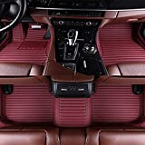 Coche tapetes, for Volvo todos los modelos S60 S80 S40 c30 v40 v60 XC60 XC90 XC70 estilo del coche del coche de la alfombra cubre alfombras de piso 1yess (Color : Red wine 2)