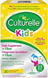 Culturelle Kids Biotics Natural Fibre Daily Supplement for Children | 20 Sachets | 2.5 Billion Live Bacterial Cultures + Fibre | Lactobacillus Rhamnosus GG Strain | Vegan | Gluten Free