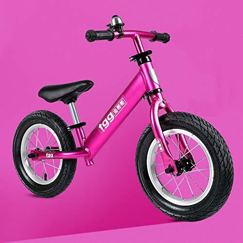 AMYDREAMSTORE Verstellbar Kinder laufrad Für Kinder Kleinkind, Walking Sport-Push Fahrrad für 2, 3, 4 Jahre alt, Ausbildung Kinder Balance-Fahrrad Ohne Pedale Baby Scooter-Rosa 56x92cm(22x36inch)