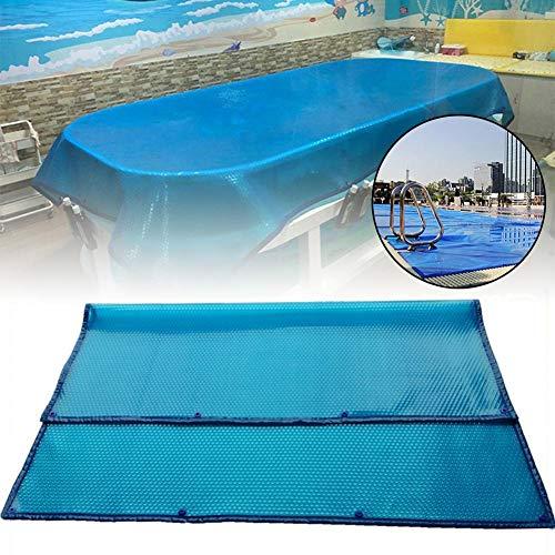Chen0-super 240 140 cm / 300 180 cm Solar Schwimmbadabdeckung, Isolierfolie Blaue Folie Blasenabdeckfolie, UV-Schutz, Pool Solarabdeckung mit Blasenseite Für Schwimmbad