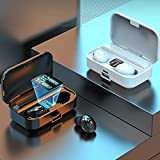 1 Pair LB-9 Wireless Earbuds Bluetooth Headphones Premium Sound Quality with Wireless Charging Case Digital LED Intelligence Display Earphones Built-in Mic Headset for Sport (Black)