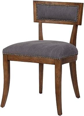 Amazon.com: whelington silla de comedor (juego de 2), Marrón ...
