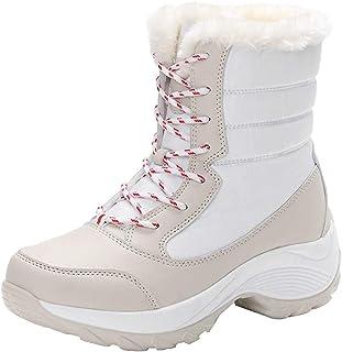 Women's Leisure Snowshoes Cotton Shoes (Color : White, Size : 37EU)