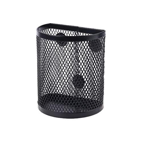 MYA Multifunktions-Stiftehalter, magnetisch, aus Metall, Gitter, Bleistifthalter, Schreibtisch-Organizer, magnetisch, für Whiteboard, Kühlschrank, Organizer schwarz