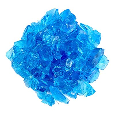 Hiland Fire Pit Fire Glass in Turquoise, Extreme Tempature Rating, Good for Propane or Natural Gas, 10 Pounds