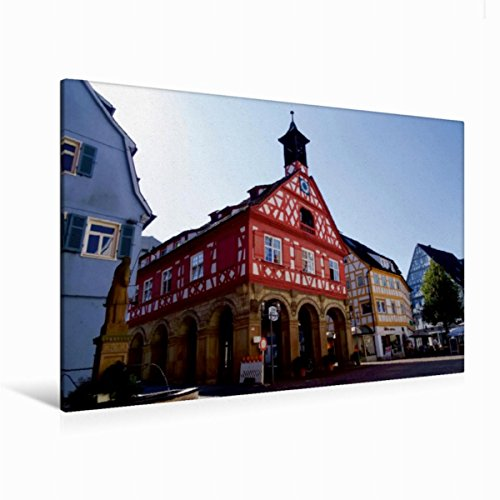 CALVENDO Premium Textil-Leinwand 120 x 80 cm Quer-Format Altes Rathaus, Leinwanddruck von Angelika Keller