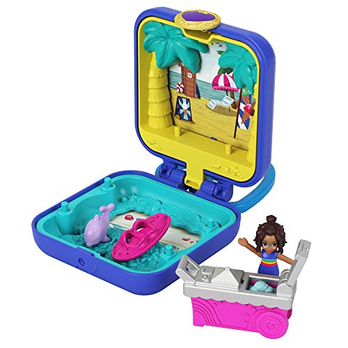 Polly Pocket cofre compacto Shani playa tropical (Mattel GKJ44)