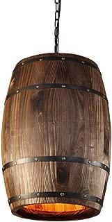 Berlato Country Wooden Barrel Pendant Lights Kitchen Island Lamp Creative E27 Lighting Fixture Art Decoration for Bar Living Room Cafe