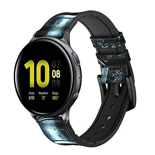 Innovedesire Skull Soldier Zombie Cinturino in Pelle e Silicone Smartwatch per Samsung Galaxy Watch Watch3, Gear S3 Models Gear S3 Frontier Gear S3 Classic Taglia (22mm)