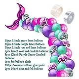 Hjdmcwd Luftballons 42pcs Mermaid Ballon-Bogen-Set Mermaid Schwanz Ballon Little Mermaid Partydekoration Supplies Hochzeit Mädchen-Geburtstags-Party Decor (Color : Set E)