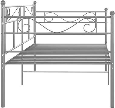 vidaXL Cadre de Canapé-lit Lit d'Invité Lit Superposé Simple Lit d'Appoint Salon Salle de Séjour Chambre à Coucher Intéri