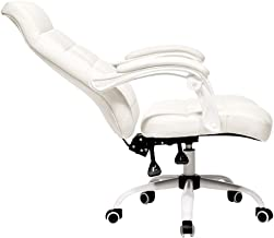 Home Office Furniture/Office Chairs & Sofas White Chair Home Leather computer chair Office Chairs with arms and Back Suppo...