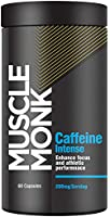 MuscleMonk Caffeine Intense | Enhance Focus & Athletic Performance- 200mg (60 Capsules)