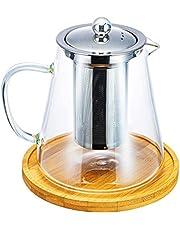 Haudang 950 ml glazen theepot met afneembare roestvrijstalen infusie voor losse bladen, thee, theeketel, zonder onderzetter