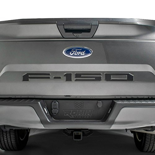 F-150 TAILGATE LETTERS for FORD F150 - THICK PLASTIC by RONIN FACTORY (Black)