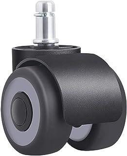 zwenkwielen met rem, Caster Wheels Set van 4 Casters 5pcs / Lot 2 inch vloer bescherming bureaustoel Casters Wheels, Tpr S...