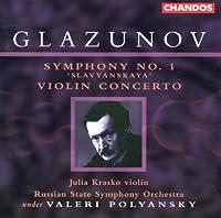Symphony 1 / Violin Concerto by A. Glazunov