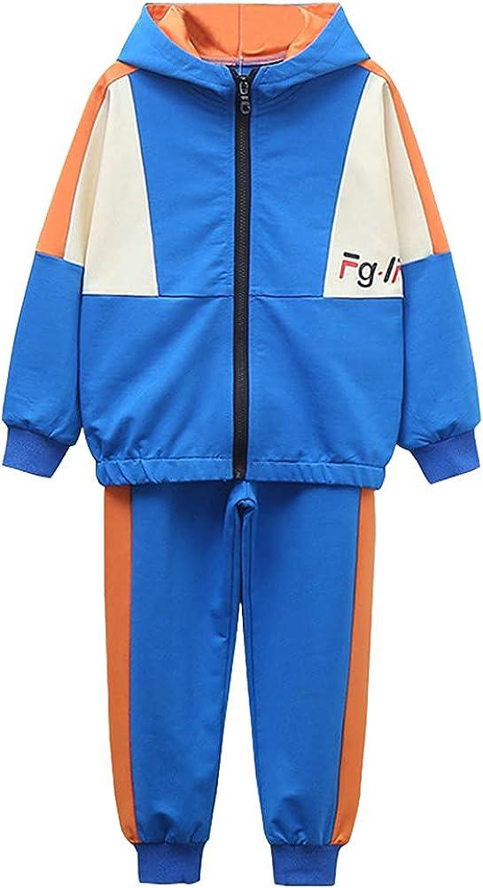 LPATTERN Kids Hooded Jacket Casual Sport Clothing Set Comfortable Breathable Boys' Coat 4-12Y